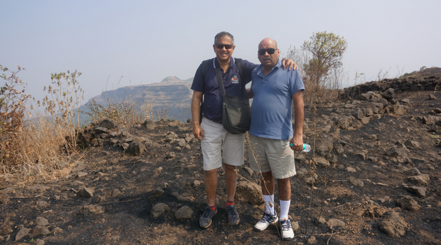 Mayo buddies at the top of Lohagad Fort